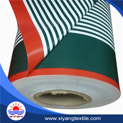 striped tarpaulin